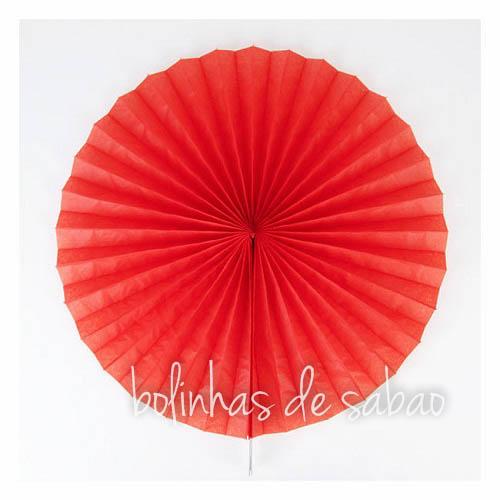 Roseta de Papel 50 cm - Vermelho