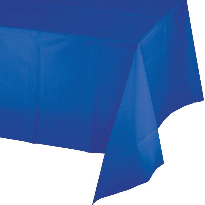 Toalha de Mesa Plástico - Azul Cobalto