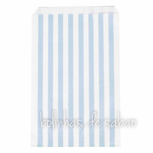 Saquetas Riscas 25 unidades -  Azul Claro