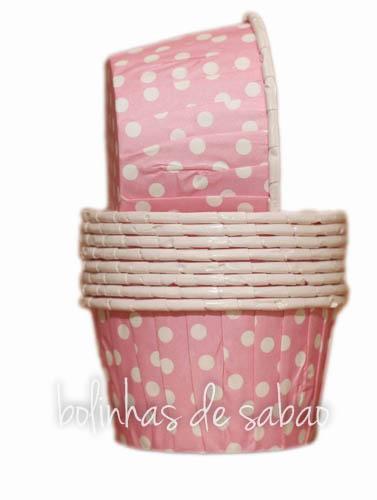 Cupcakes Rigidas Bolas 10 unidades - Rosa Claro