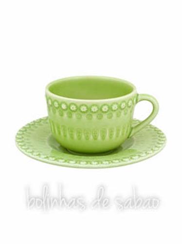 Chávenas de Chá - Verde Alface