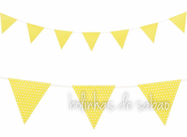 Bandeiras Bolas Amarelo