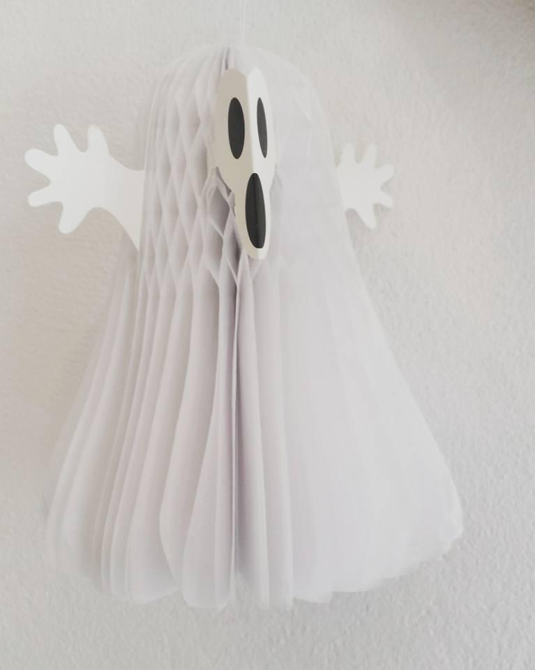 Fantasma Branco de papel - 23 cm