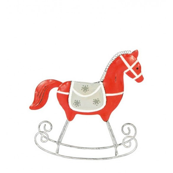 Cavalo Baloiço Vermelho