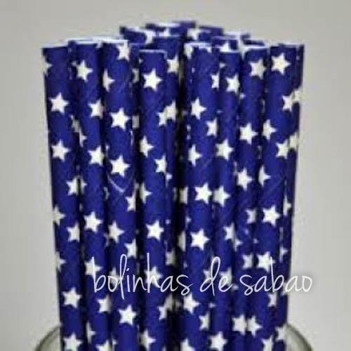Palhas Estrela 25 unidades - Azul Escuro