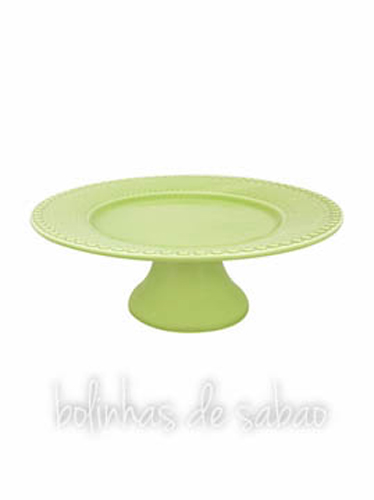 Prato de Pé 34.5 cm - Verde Alface
