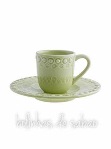 Chávenas de Café - Verde Alface