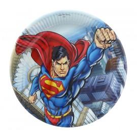 Pratos Super Homem- 8 unidades