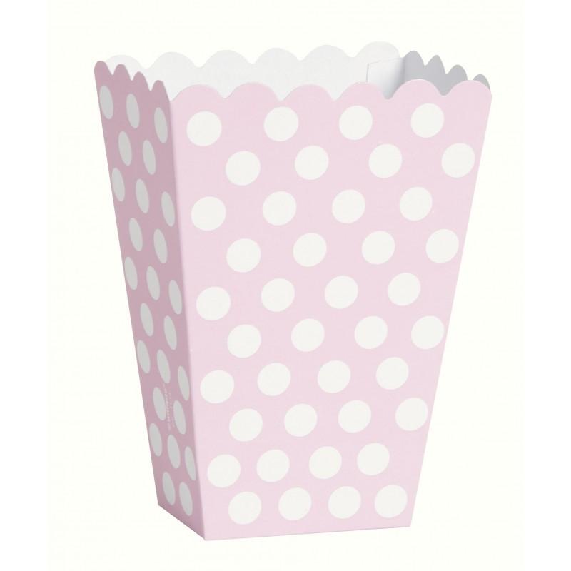 Caixas de Pipocas 8 unidades - Rosa Tamanho M