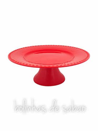 Prato de Pé 28 cm - Vermelho