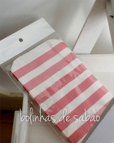 Saquetas Riscas 12 unidades - Rosa