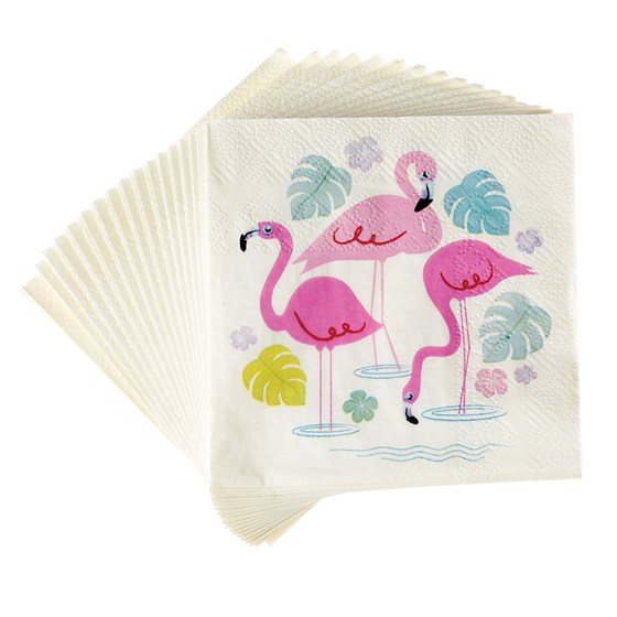 Guardanapos Flamingo - 20 unidades