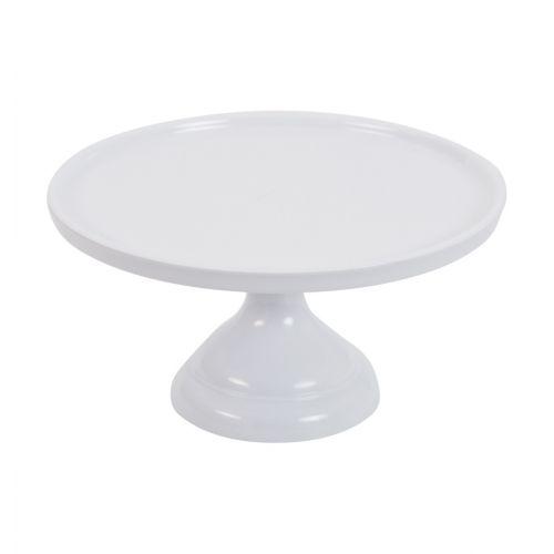 Prato de Pé Melamina - Branco - 23,50 cm
