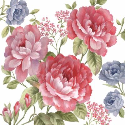 Guardanapos Flores 33 cm - 20 unidades Rosa