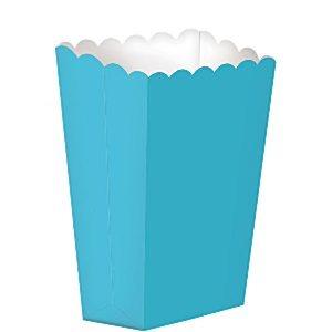 Caixas de Pipocas Lisas 5 unidades - Azul Claro Tamanho S