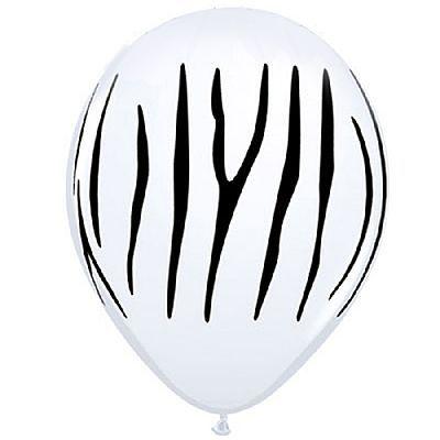 Balões látex zebrado