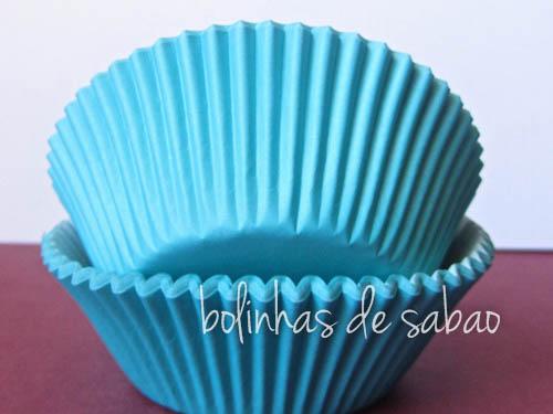 Cupcakes Lisos 60 unidades - Azul Claro