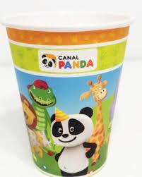 Copos Canal Panda - 8 unidades