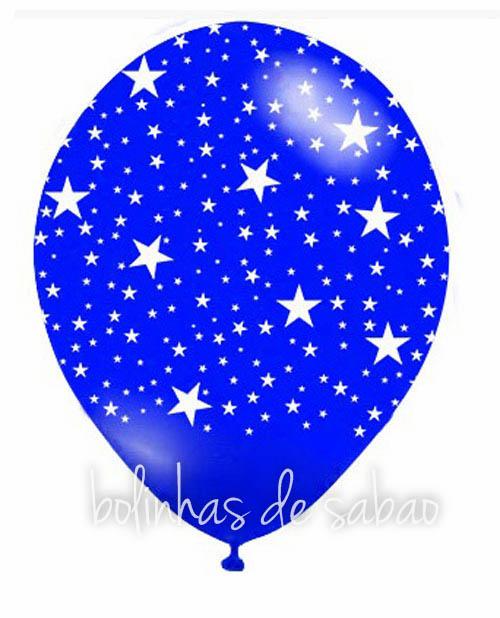 Balões Estrelinhas 5 unidades - Azul