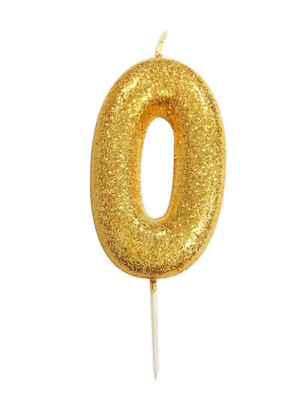 Vela Glitter Dourado nº0