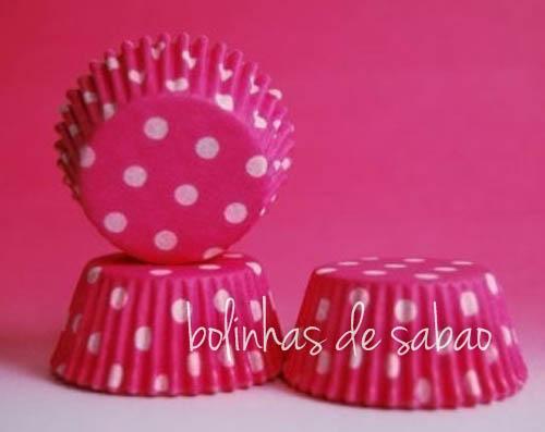 Cupcakes Bolas 60 unidades - Cereja