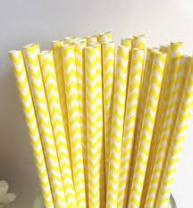 Palhas chevron amarelo - 30 unidades