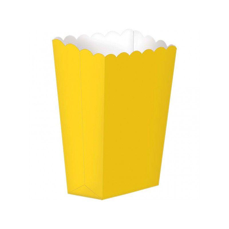 Caixas de Pipocas Lisas Amarelo -5 unidades