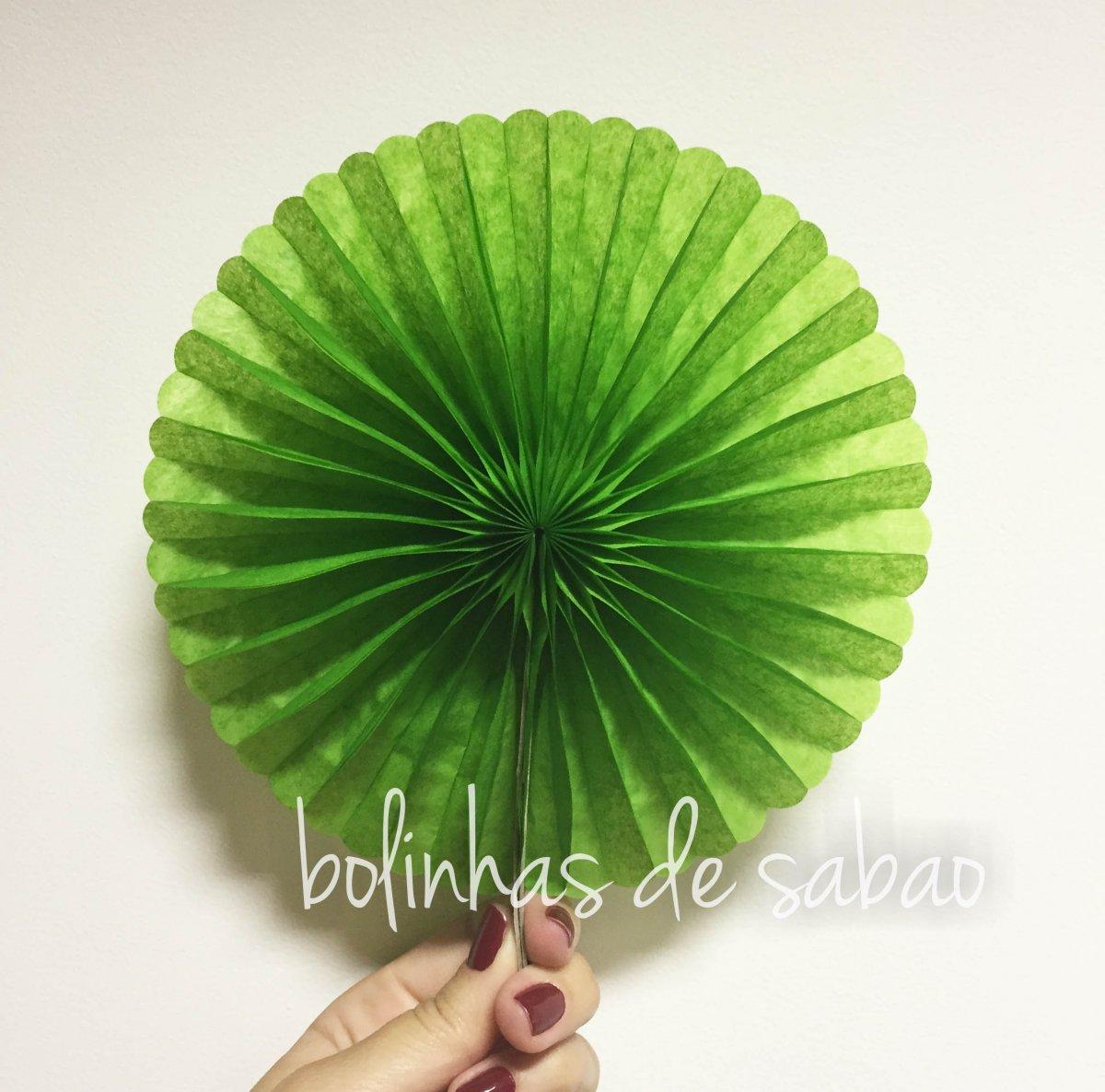 Roseta de Papel 50 cm - Verde