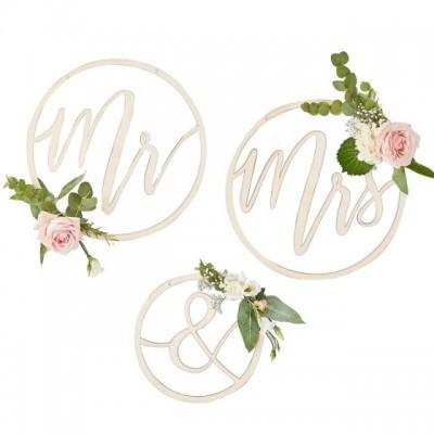 Decoração de Parede Mr & Mrs