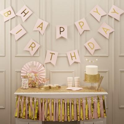 Grinalda Happy Birthday Pastel Perfection - Rosa