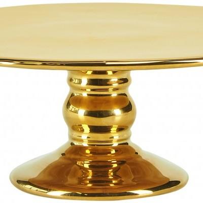 Cake Stand Cerâmica Dourado 26CM- Miss Etoile