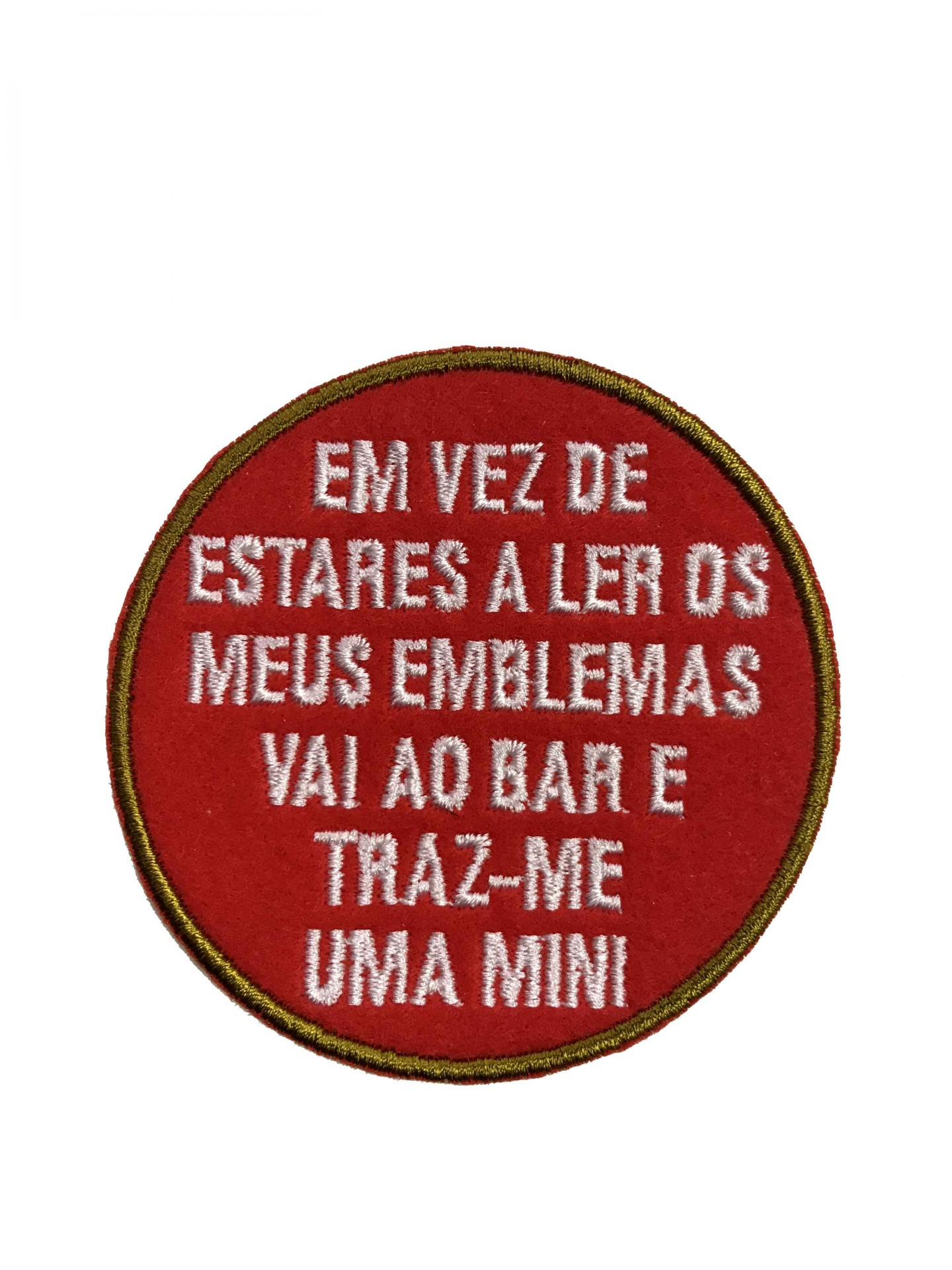 "Emblema ""traz-me uma mini"""