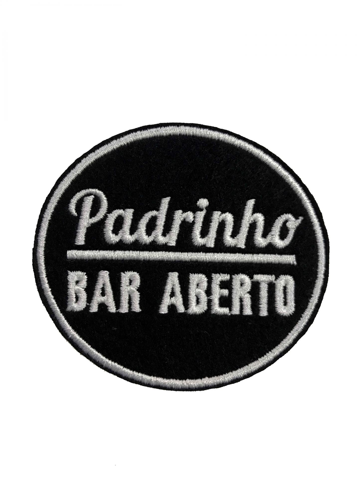 Emblema Padrinho - bar aberto