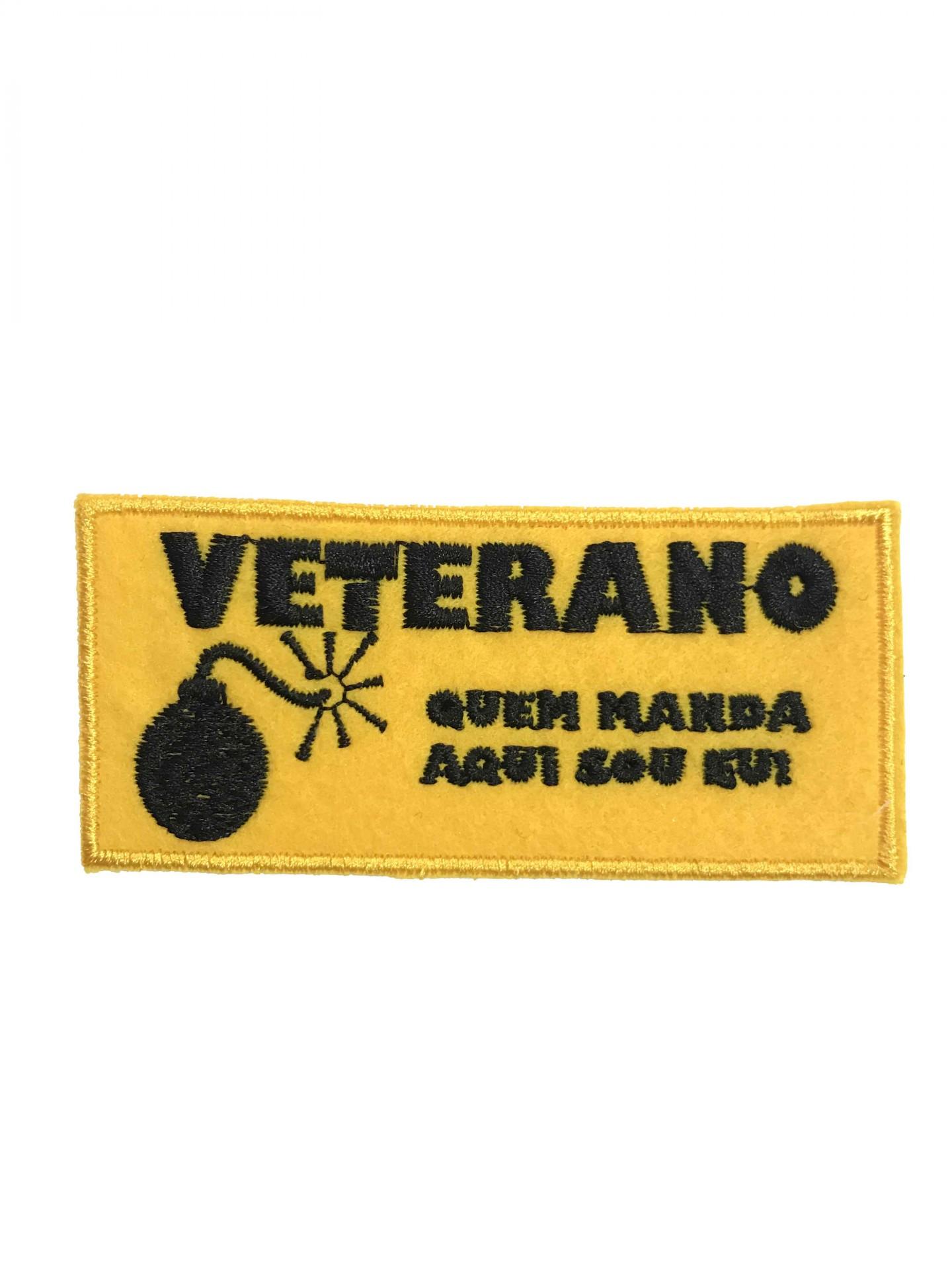 Emblema Veterano - quem manda aqui sou eu