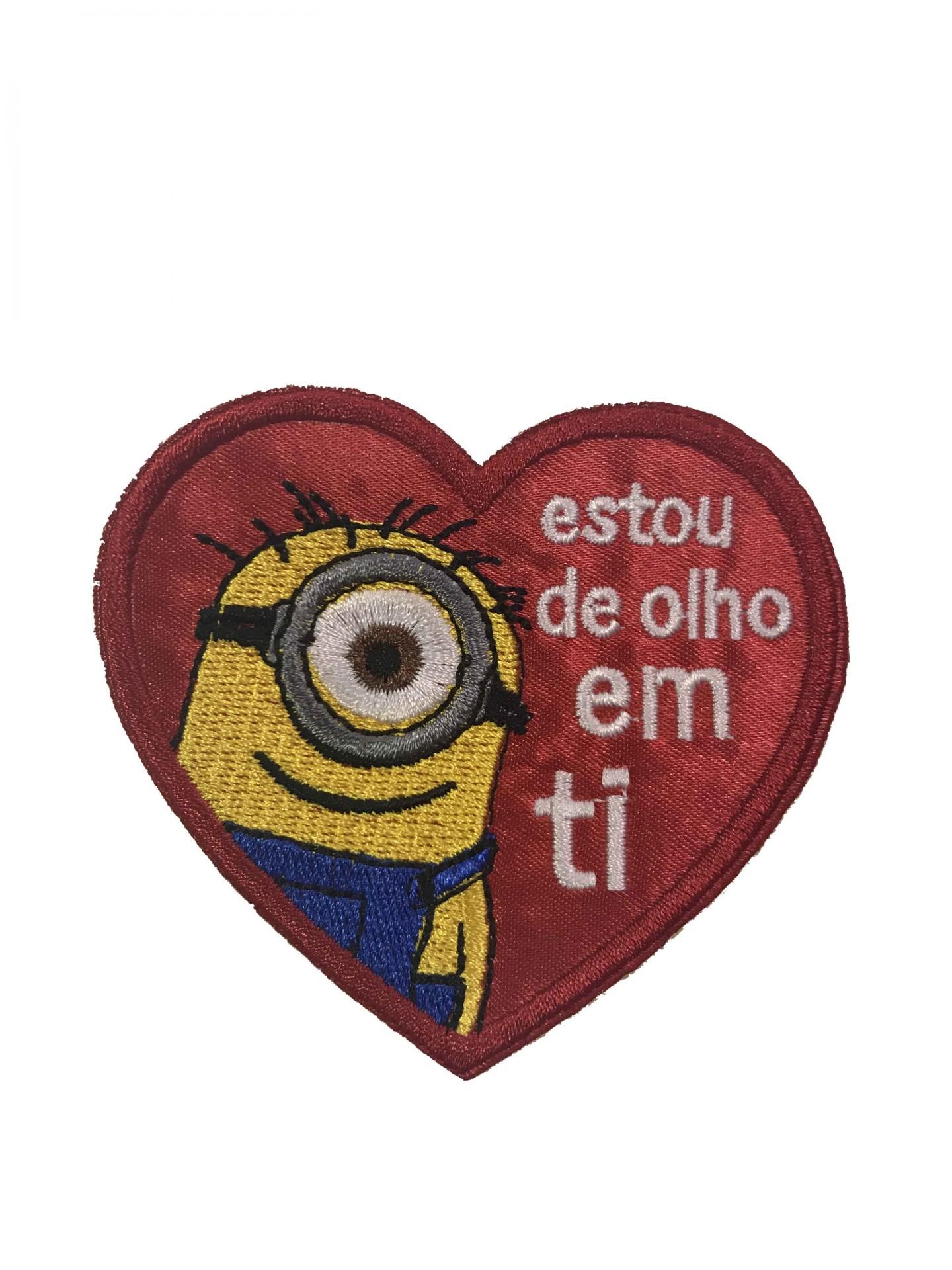 """Emblema """"Estou de olho em ti"""""""