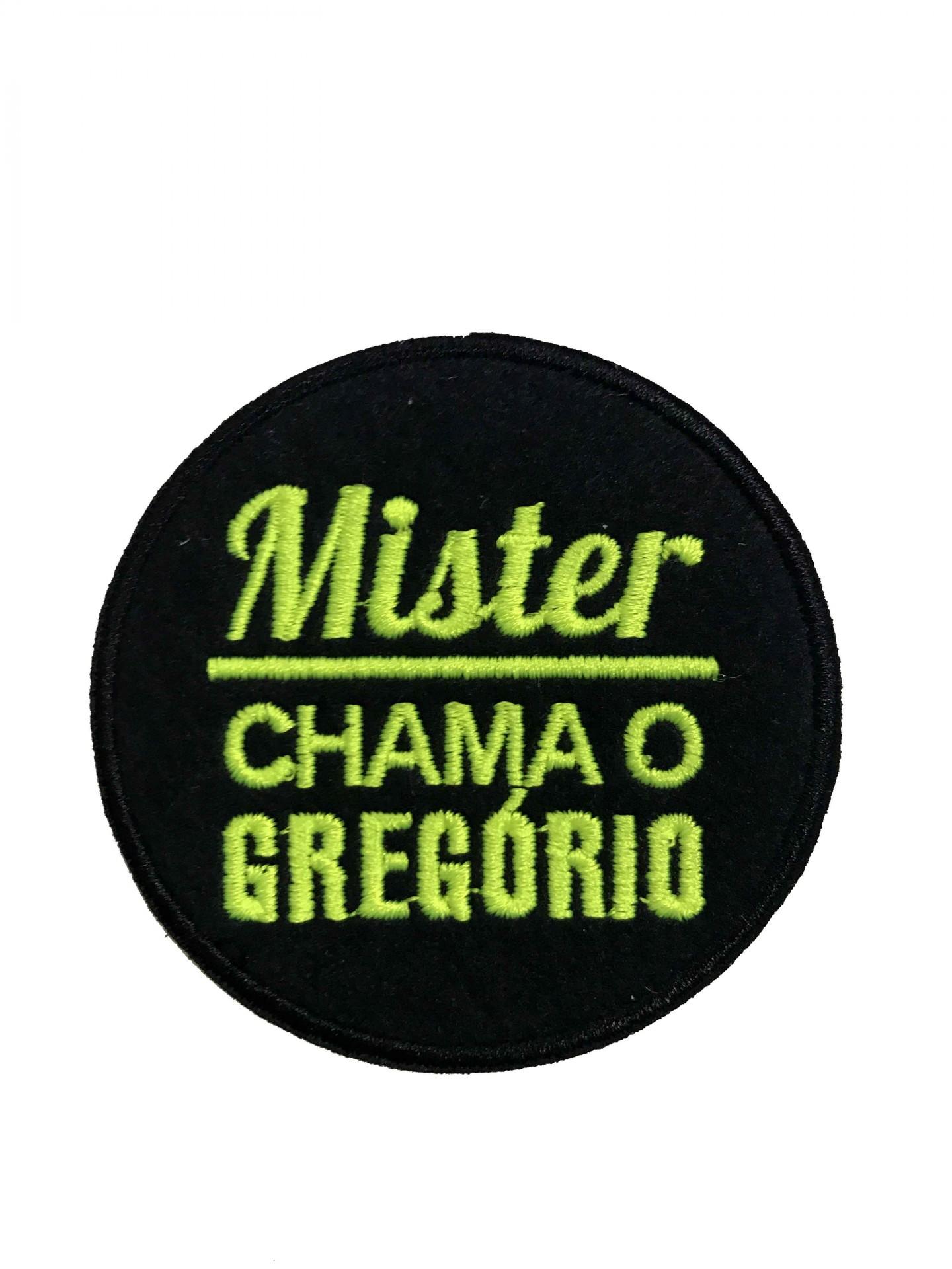 Emblema Mister chama o gregório
