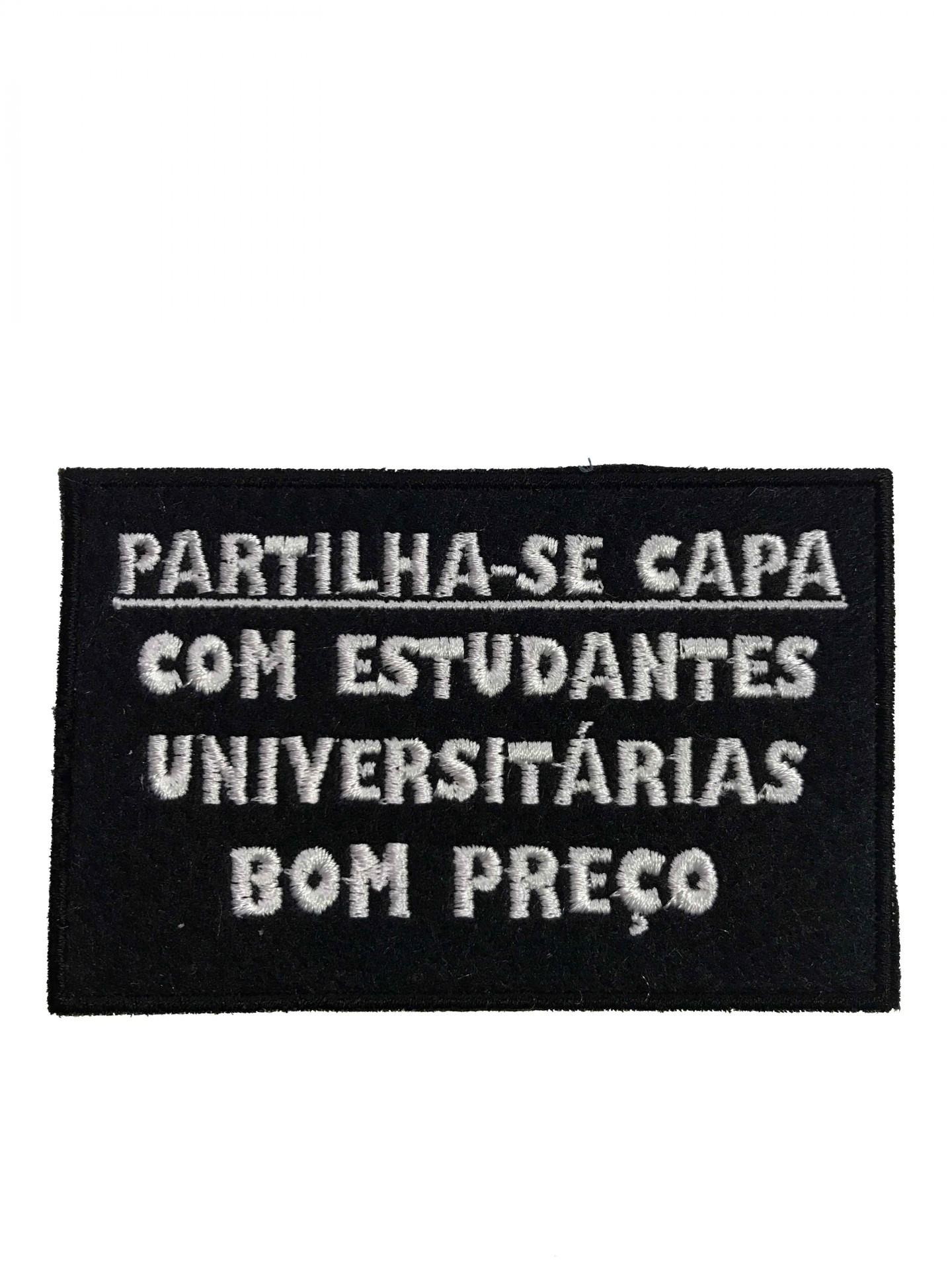 """Emblema """"Partilha-se capa"""""""