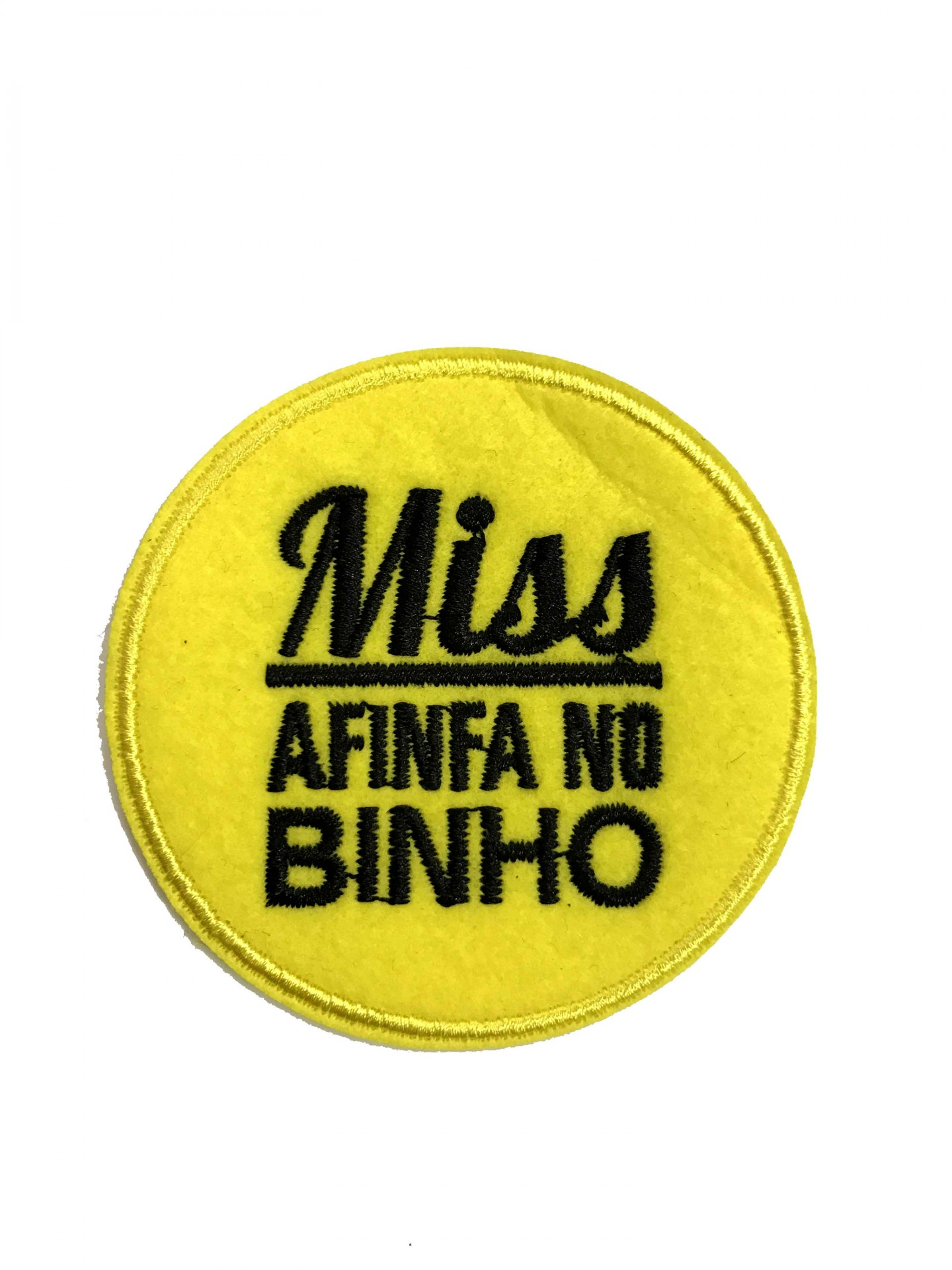 Emblema Miss afinfa no vinho