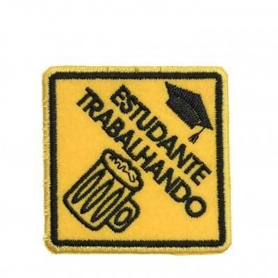 Emblema Estudante Trabalhando