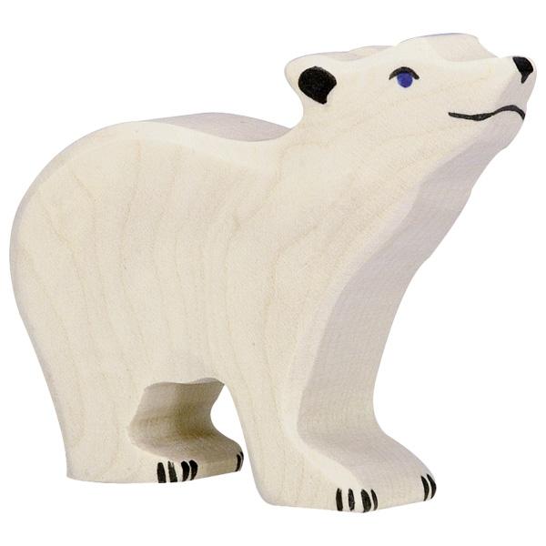 Urso Polar Cabeça Levantada - Holztiger