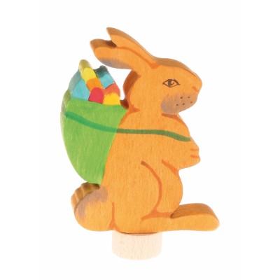 Coelho com cesto ovos figura decorativa  - Grimm's