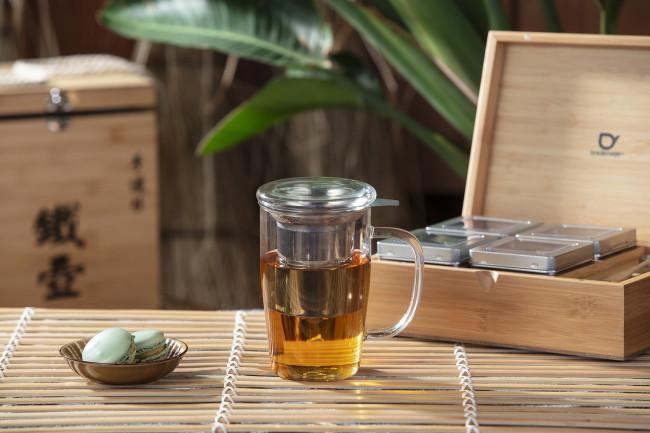 Chávena de Chá de Vidro | Tampa e Filtro 530ml