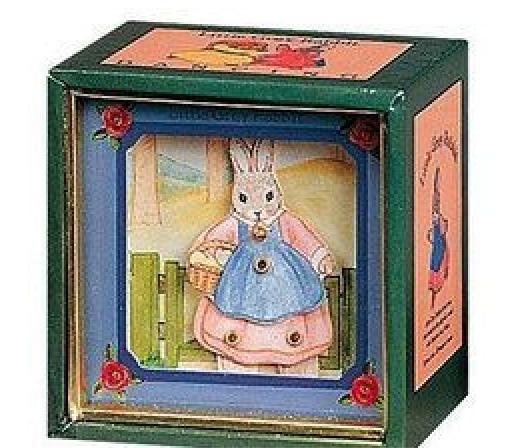 Mini Caixa Musical - Coelha com Cesto | Pedrito o Coelho