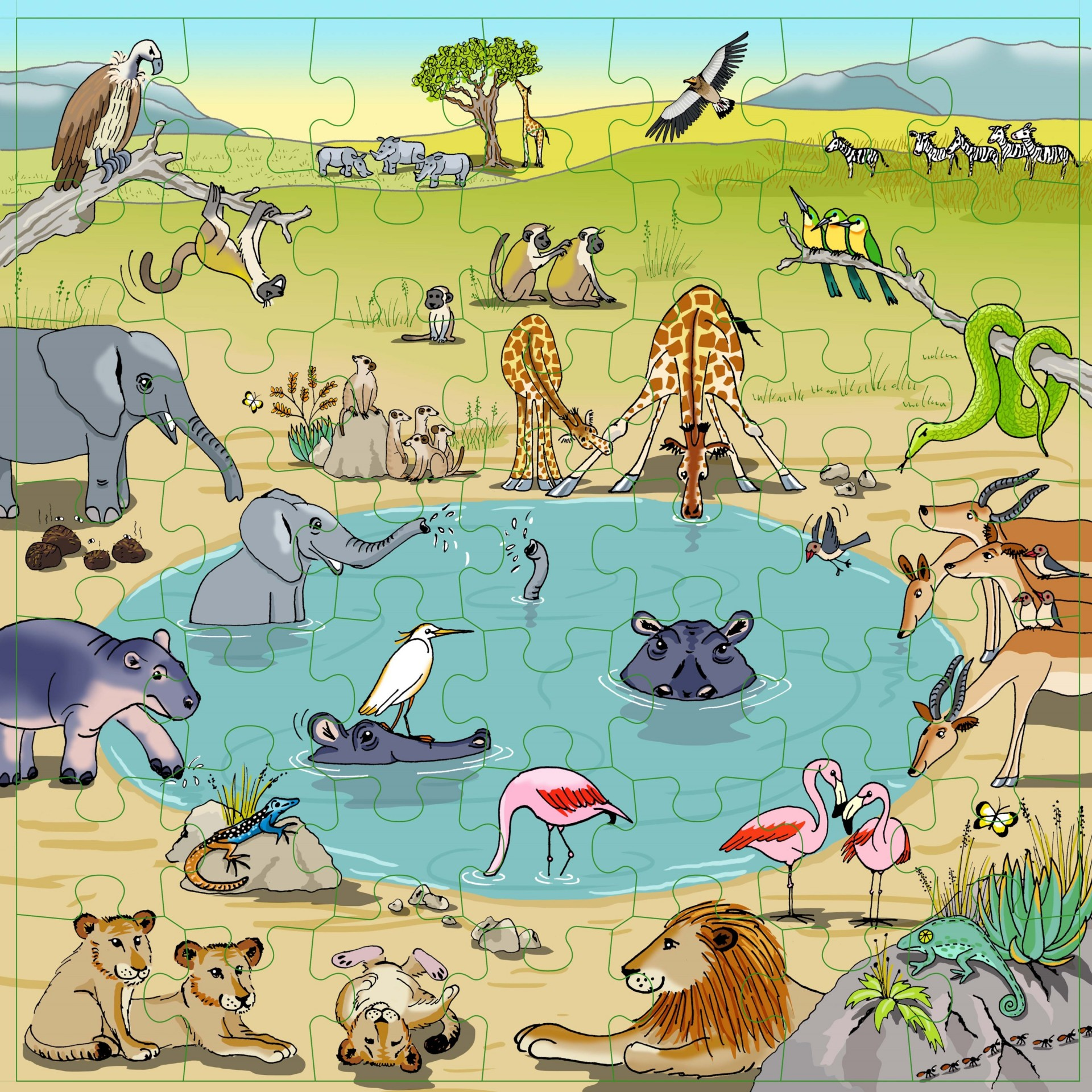 Savana Puzzle Vocabulário - Educo