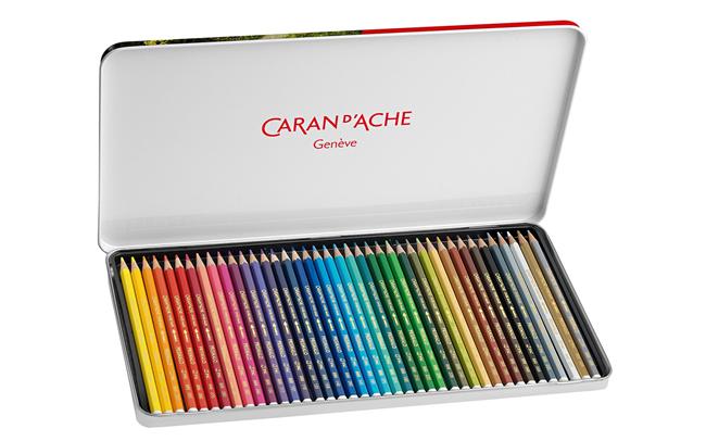 40 Lápis Aquareláveis PRISMALO | Caran D'Ache