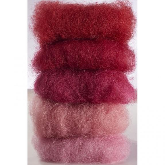 Lã Natural de Feltrar Vermelho Sortido 50gr - Gluckskafer