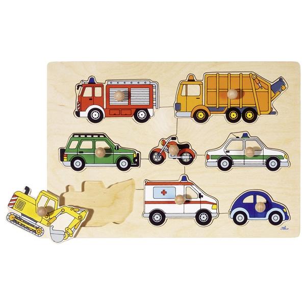 Puzzle de Pegas Meios de Transporte - Goki