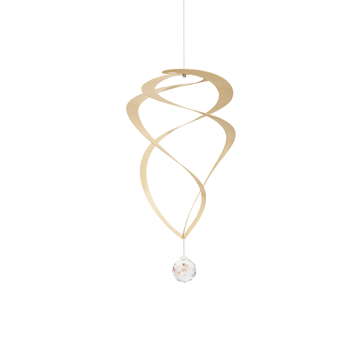 Mobile Espiral Folheado Com Cristal Swarovski®