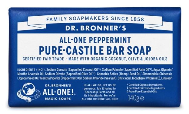 Hortelã-pimenta Sabonete em Barra biológico - Dr. Bronner's