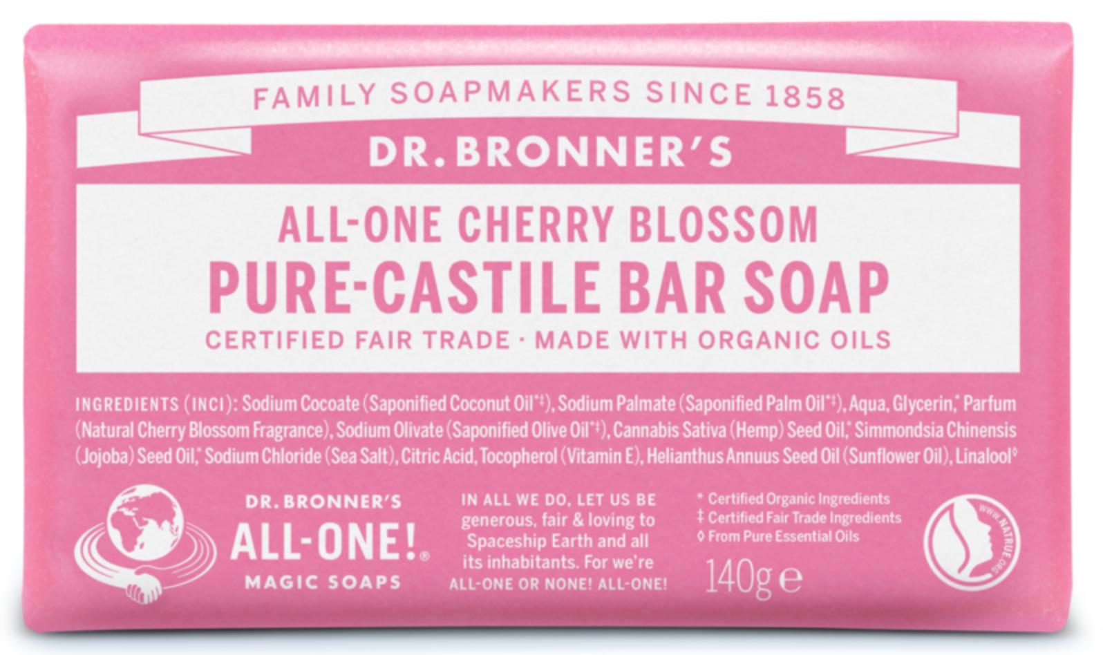 Flor-de-Cerejeira Sabonete em Barra biológico - Dr. Bronner's